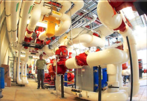 New energy technologies allow an entire college campus to pull from and push back thermal energy from the earth
