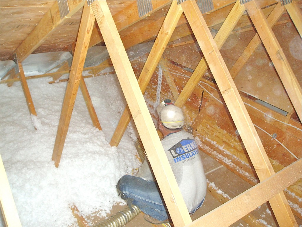 Attic blow-in insulation